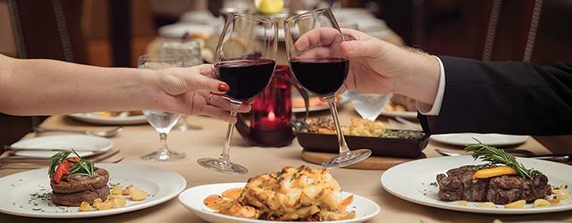 Scarlet's Steaks & Seafood Lobster Wine Filet Mignon